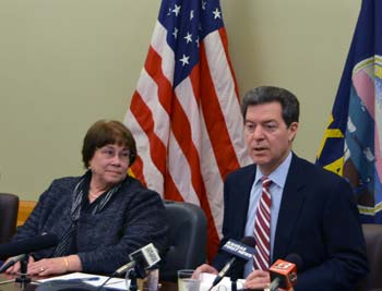 Governor Brownback announces Phyllis Gilmore as Acting Secretary of SRS.