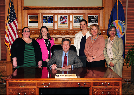 Governor Brownback signs Social Worker Month Proclamation