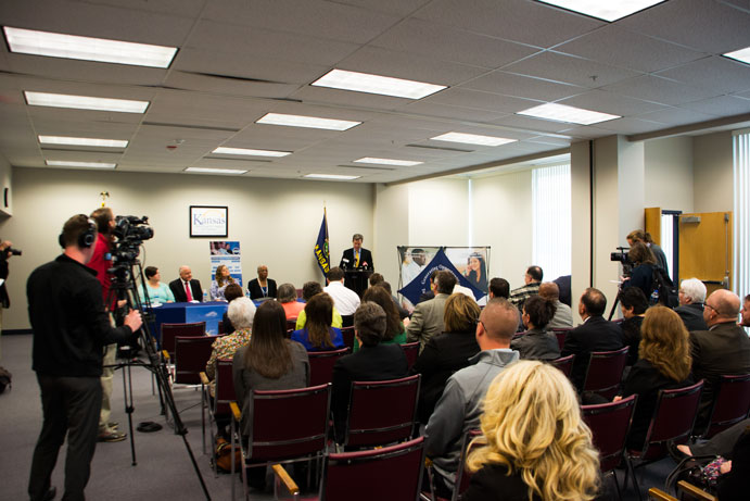 Grant announcement today, at the Topeka DCF Service Center