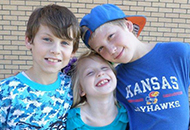 Trenton, Seth and Ashlyn