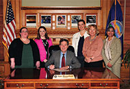 Social Worker Proclamation signing with Governor Brownback