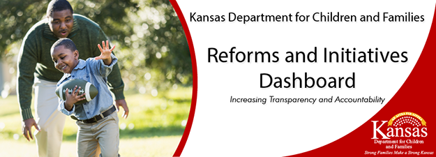 Kansas Department for Children and Families. Reforms and Initiatives Dashboard. Increasing Transparency and Accountability.